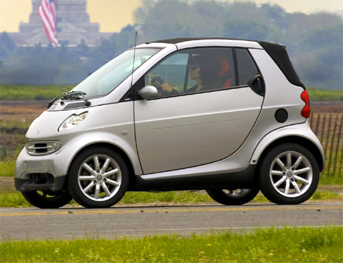 Mercedes Smart car has low insurance rates