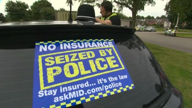 Cars can be seized by the police